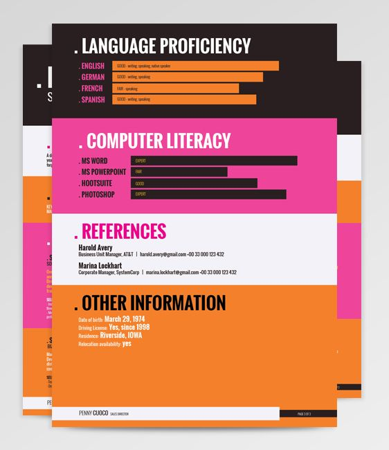 Monoceros Resume Template  http://bit.ly/Monoceros-Pinterest  Sharp typography and strikingly bold features speak about a strong, confident individual.