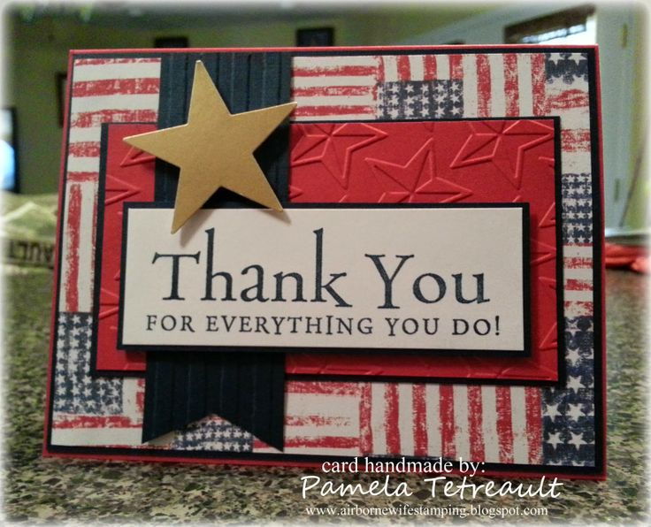 "Operation Write Home Memorial Day Blog Hop ""THANK YOU FOR EVERYTHING YOU DO!"" card"