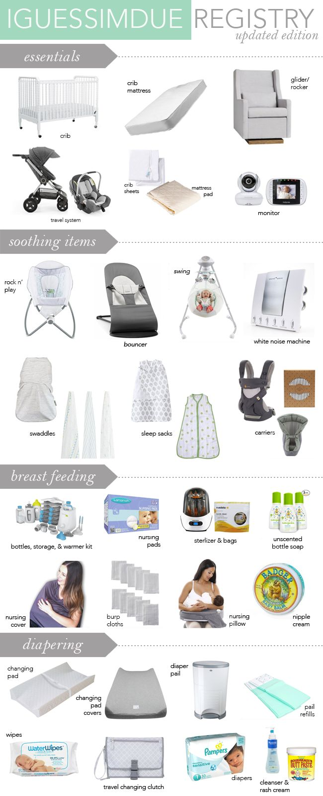 THE ULTIMATE MINIMALIST BABY REGISTRY GUIDE & CHECKLIST FOR NEWBORN ESSENTIALS!