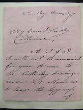 Princess Victoria Duchess of Kent 3pp Autograph Letter  Mother of Queen Victoria