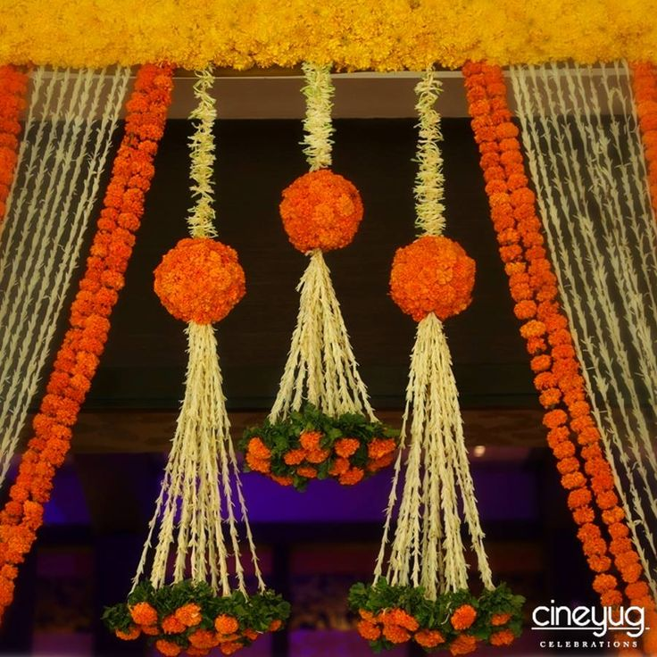 Marigolds at weddings are symbolic of the divine blessings to the newlywed…