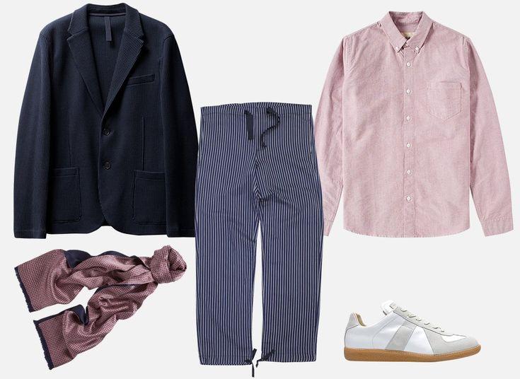 Кимоно, очень широкие брюки, лоферы и другие вещи для свадьбы