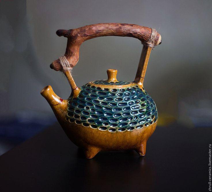 """Купить Чайник """"Фасолина"""" - керамика ручной работы, авторская керамика, глазури, глина, чайная церемония"""
