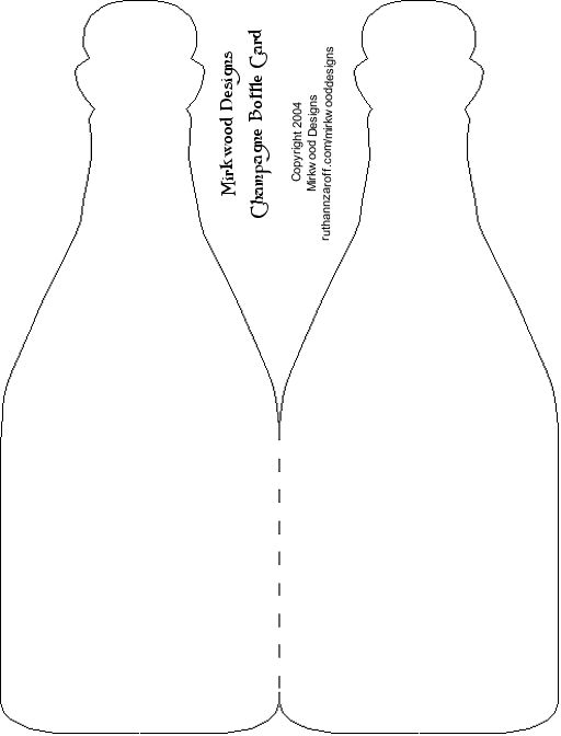 Champagne bottle template