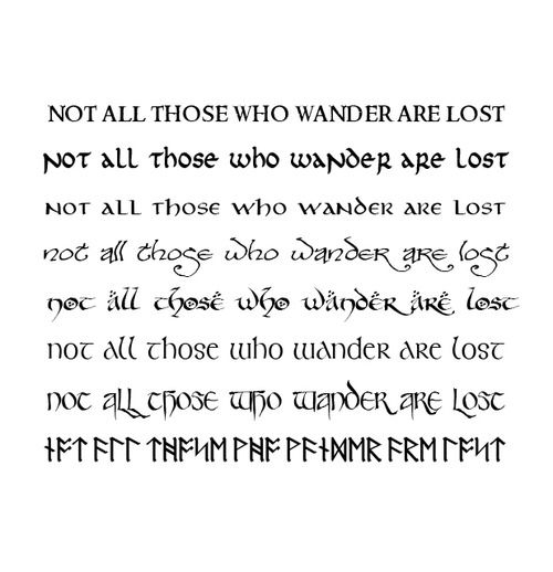 Not All Those Who Wander Are Lost Latin