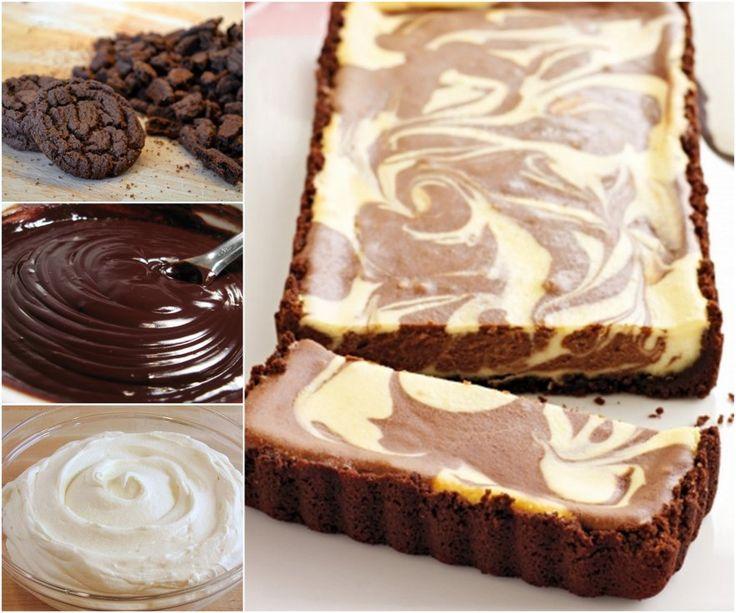 Chocolate Ripple Cheesecake Tart