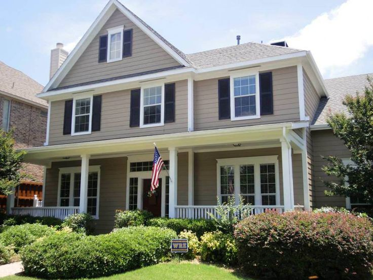 Design Ideas Casual Picture Of Home Exterior Design And Decoration Using  Cream Light Brown. Tudor Brick Exteriors Exterior House Painting Color ...