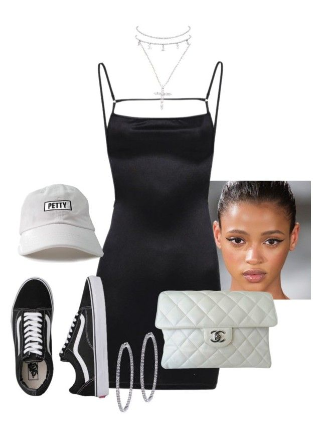"""Untitled #1599"" by elinaxblack ❤ liked on Polyvore featuring Vans, Nephora, Chanel and BillyTheTree"