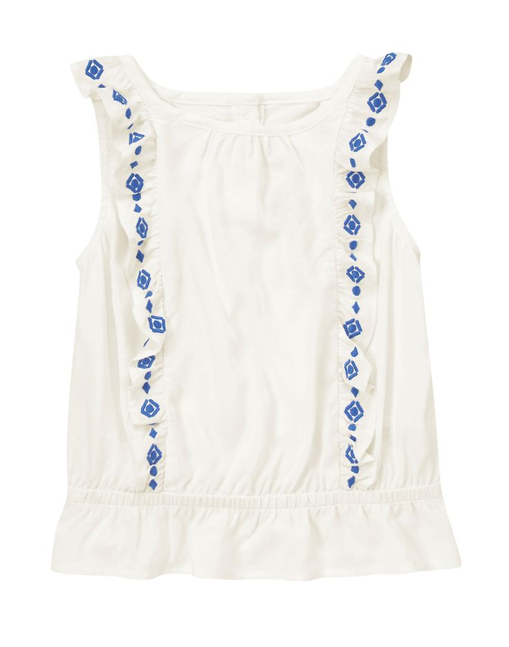 Embroidered Ruffle Top at Crazy 8 4.19