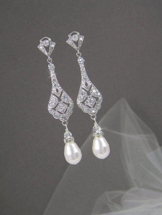 Best 25+ Bridesmaid earrings ideas on Pinterest   Bridal jewelry ...