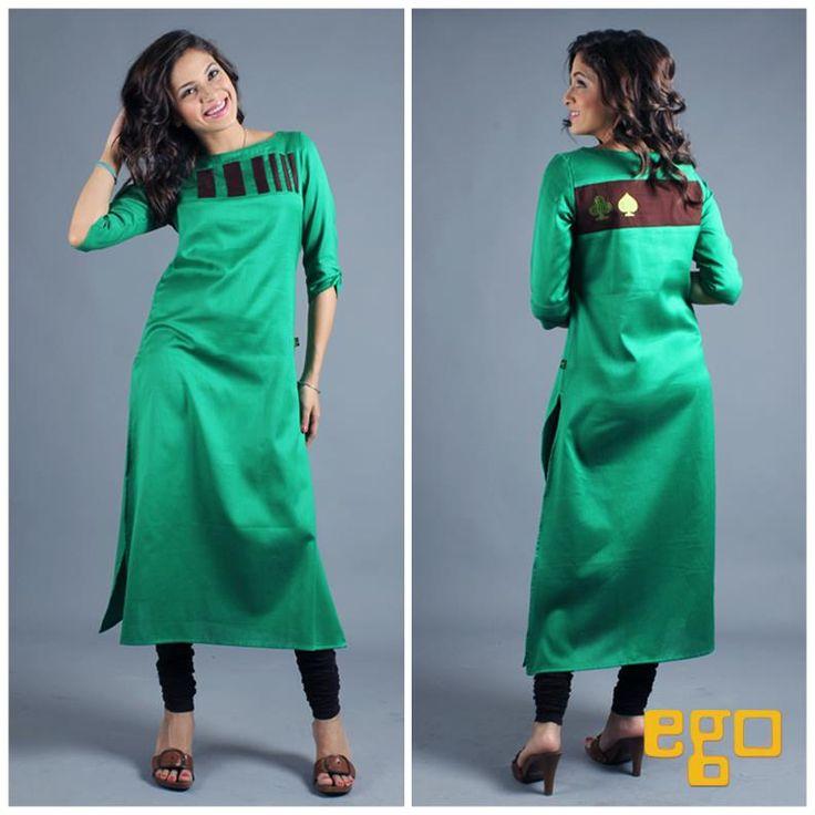 Long dress kurta green
