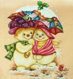 Boneco de Neve Natalino para Pintura em Tecido