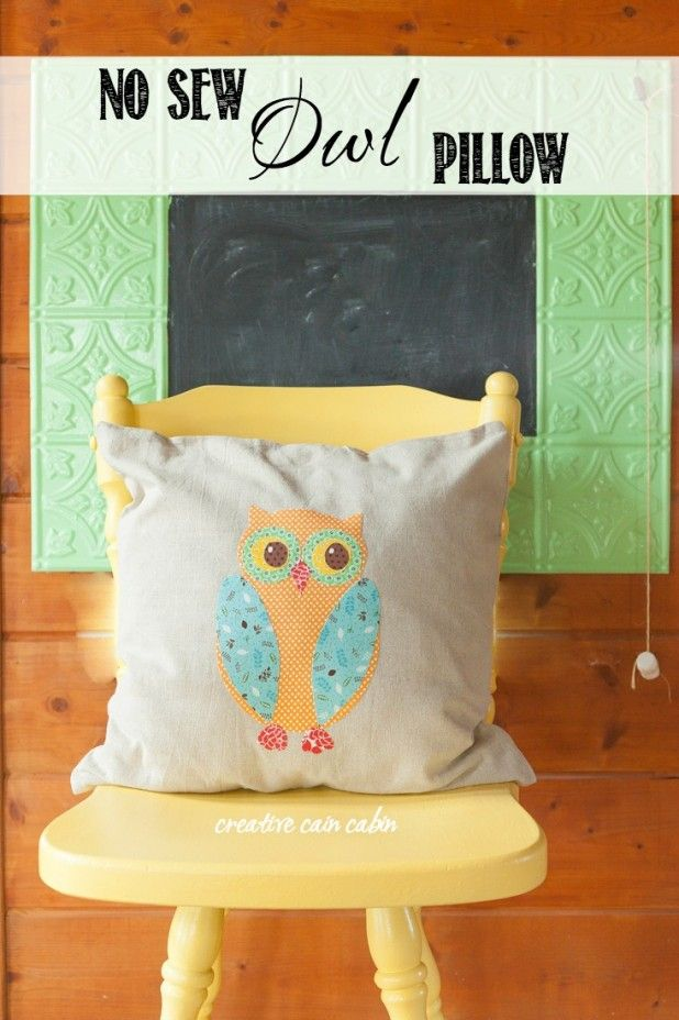 diy no sew owl pillow owl pillow sewing diy and owl. Black Bedroom Furniture Sets. Home Design Ideas