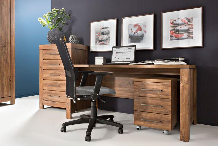 biurko Gent 70cm x 76cm x 160cm - część kolekcji Gent - kup w BRW