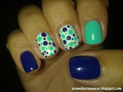 Pinterest idea - Green, Blue and dots