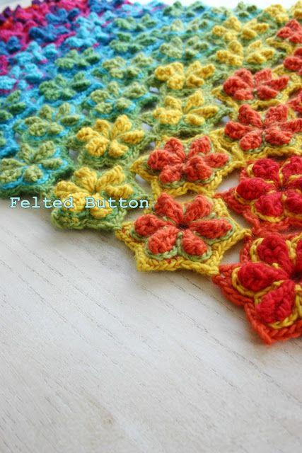 Felted Button: ::Star Fruit Rug & Blanket Crochet Pattern::