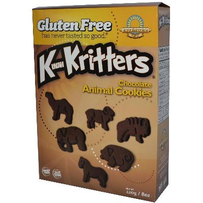 Kinnikinnick Foods Kritters Chocolate Ckies (6x8OZ ):Gluten Free Has Never Tasted So Good. Gluten Free - Lab Tested. Dairy Free - Casein Free, Lactose Free. Nut Free - Peanut Free, Tree Nut Free.