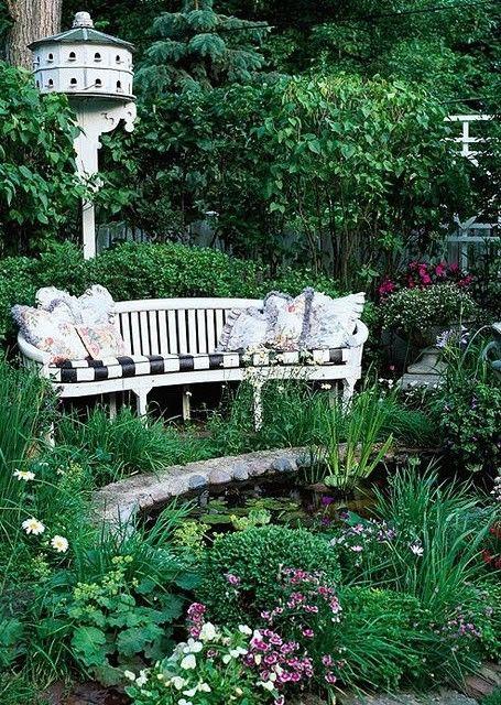 beautiful sitting spot in the garden