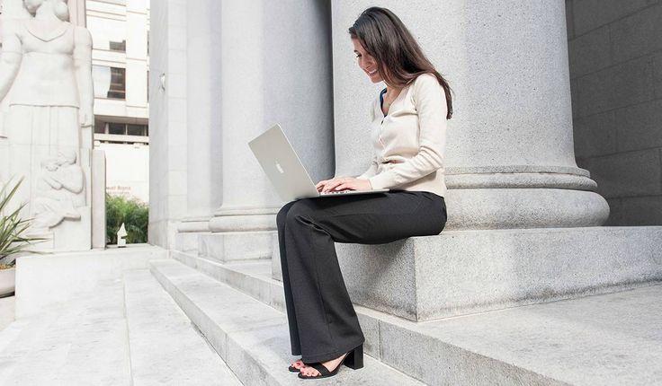 Gray Dress Pant Yoga Pants (Boot-Cut) | Women's Stretch Dress Pants | Betabrand