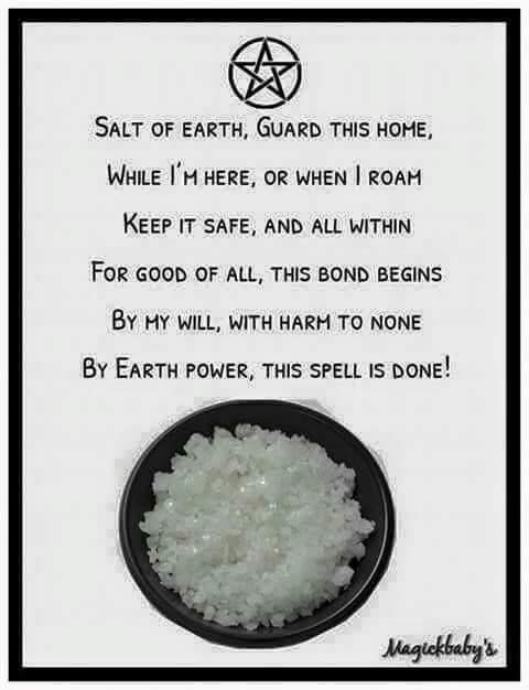The Aries Witch ♈ Salt is used to purify, clear and regenerate energies, vibrations, areas and tools, it is a natural earthly product and is commonly included in an altar set up and for consecration. - Wicca - pagan - witchcraft