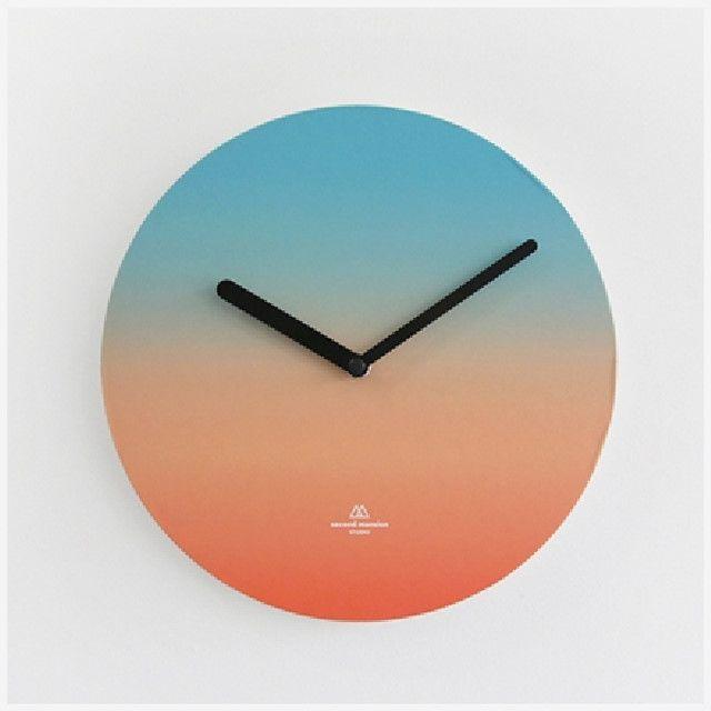 오브젝트 클락 블루오렌지 모던벽시계 벽시계 결혼선물벽시계 벽걸이시계 소품벽시계 예쁜시계 인테리어시계 디자인시