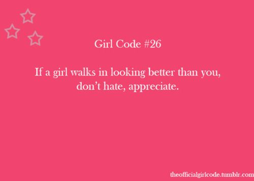 Girl Code Rules Tumblr   The Official Girl Code