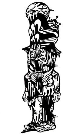 Gabriel Tiongson Mad Hatter ink on paper © 2010