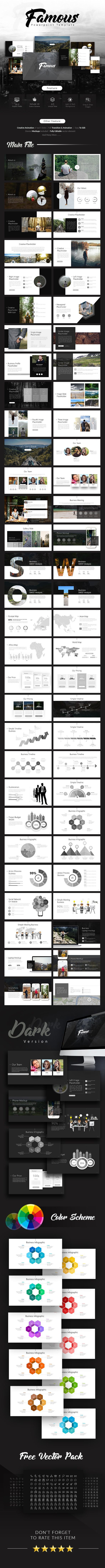 Famous  Creative Presentation — Powerpoint PPTX #advertisement #excel • Available here ➝ https://graphicriver.net/item/famous-creative-presentation/20970676?ref=pxcr