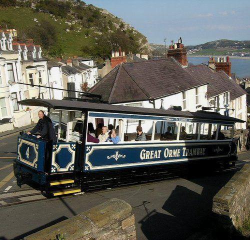 Great Orme Tramway in Llandudno, North Wales ♥