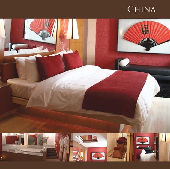 La suite china incluye cama king con edred n de plumas - Banos con jacuzzi ...