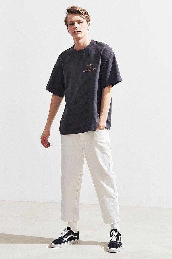 Puma X Han Kjobenhavn Pinstripe Tee Puma Streetstyle Streetwear Menswear Mensfashion Tshirt Menwithstreetstyle Han Kjobenhavn Menswear Street Wear
