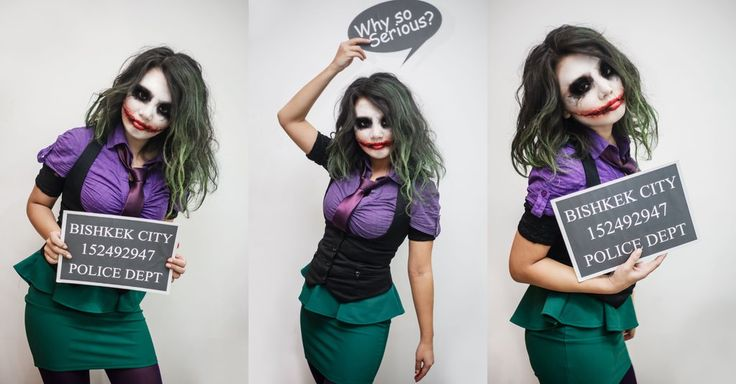 Me little genderbend female joker cosplay for this year Halloween