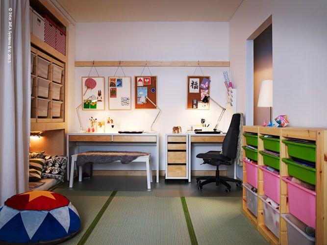 MICKE desk combination | Back to School | Pinterest