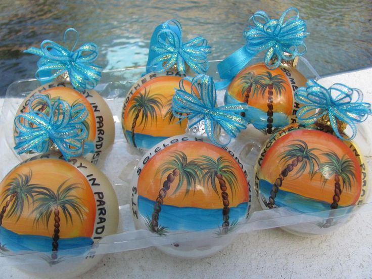 Hand Painted Tropical Christmas Ornament - Jimmy Buffett, Margaritaville