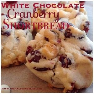 WW Recipe: White Chocolate Cranberry Shortbread Cookies http://www.orderskinnyfiber.com/white-chocolate-cranberry-shortbread-cookies/