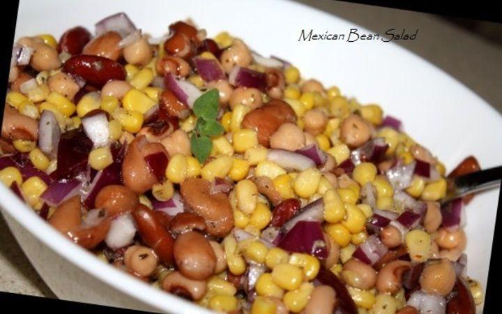 Mexican Bean Salad Recipe - Recipezazz.com
