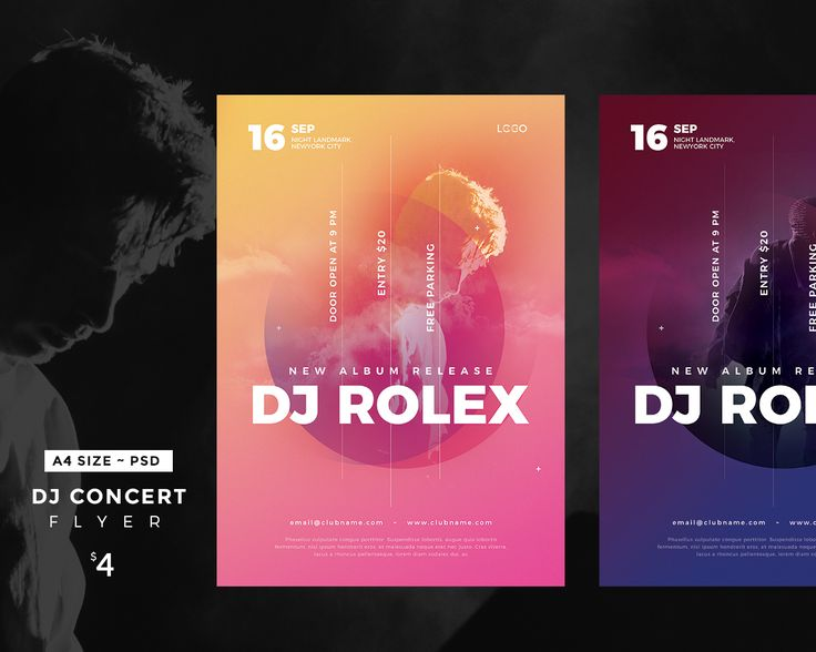 "다음 @Behance 프로젝트 확인: ""DJ Concert Flyer"" https://www.behance.net/gallery/57037263/DJ-Concert-Flyer"