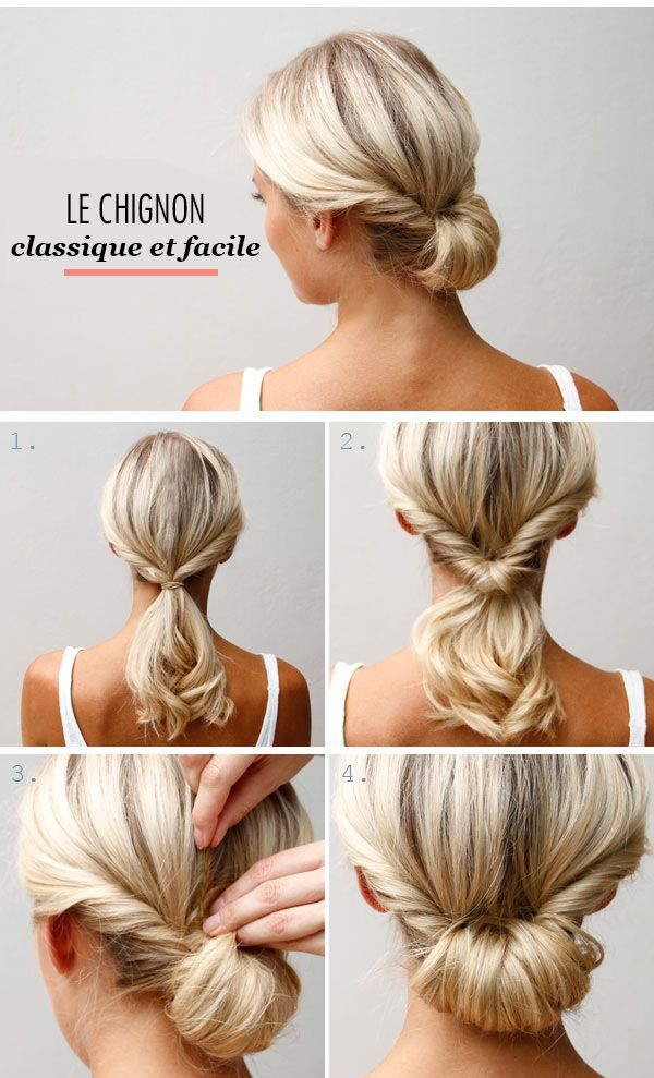 Bien-aimé 25+ unique Chignons ideas on Pinterest | Coiffure facile  LW82