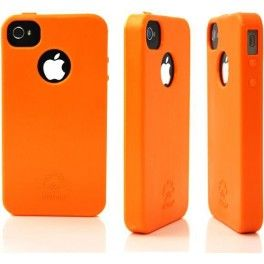 #Cover Soft #biodegradabile per #iPhone 4 Col. Tangelo Orange