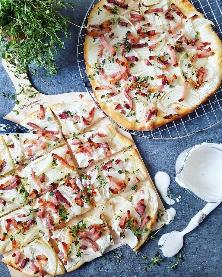 Tarte flambée ��  #flammkuchen #tarteflambee #thyme #bacon #boczek #cebula #pizzatime #kolacja #pychota #yummyy #fromthetop #ontheplate #onthetable #frenchcuisine #wiemcojem #jedzenie #gotowanie #pycha #polishblog #polishgirl #polishblogger #foodblog #foodphotography #blogkulinarny http://w3food.com/ipost/1512474885996425340/?code=BT9Y-U3hDB8