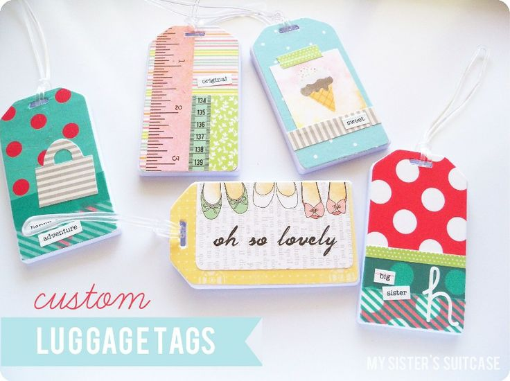 My Sister's Suitcase: Custom Luggage Tags {and Business Card holder}