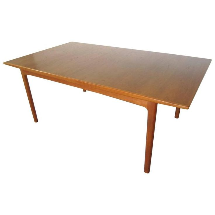 stunning sylve stenquist dux teak dining table with 2 leaves danish modern. beautiful ideas. Home Design Ideas