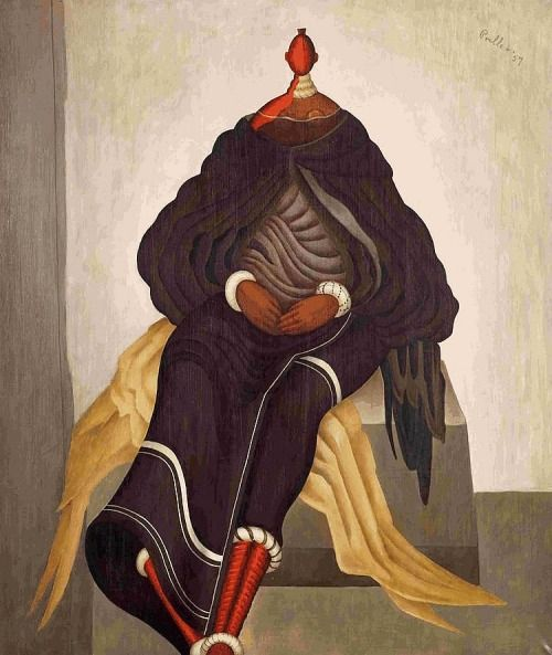 Alexis Preller (South African, 1911-1975), Grand Mapogga III, 1957. Oil on canvas, 101 x 85cm.