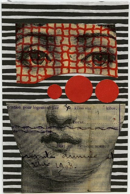 fragmented by Crafty Dogma: Art Stuff, Sad Eye, Collage Faces, Collage Art, Art Collage, Crafty Dogma, Dogma Fornasetti, Art Photos, Red Black