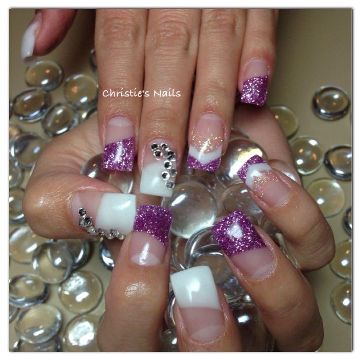 Christie's Corner - client request. Long nails, super sparkly Swarovski crystals.