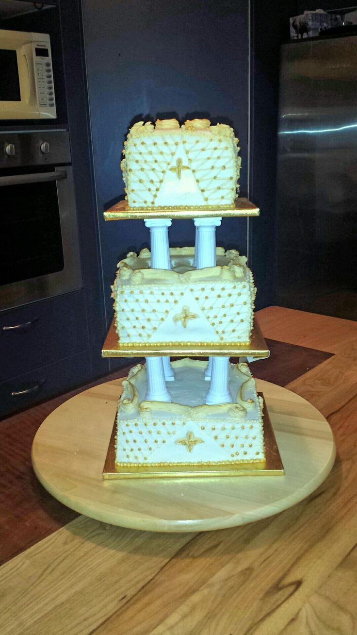 50th  wedding anniversary cake.