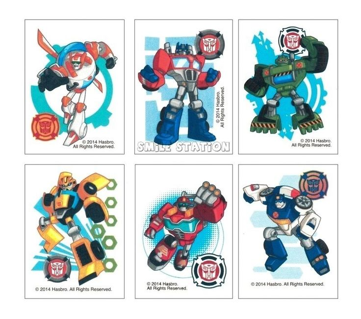 12 Transformers Temporary Tattoos Boys Party Goody Loot Bag Filler Favor Supply #Unbranded