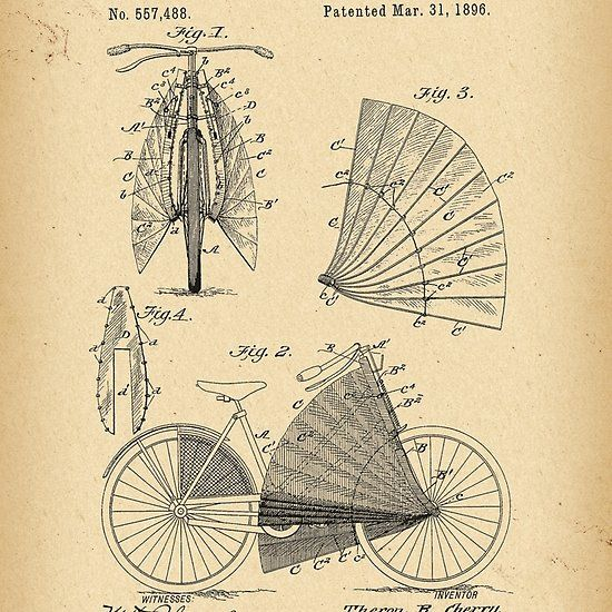 1896 Patent Bicycle - SCREEN FOR LADIES BICYCLES