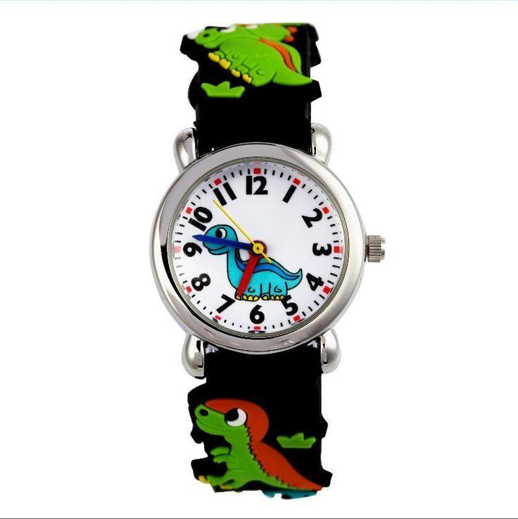 dinosaur 3D Cartoon 2016 NEW Free Shipping kids Watch cute The best gift wristwatch jelly watch relogio feminino