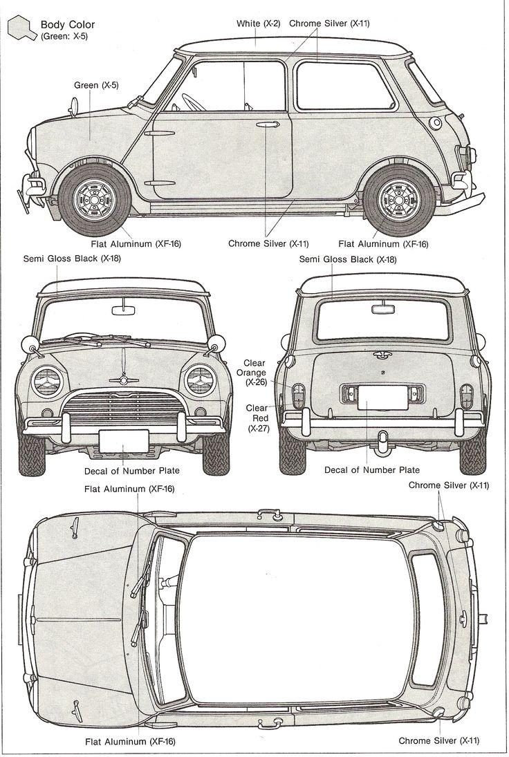 「old mini cooper blueprint」的圖片搜尋結果